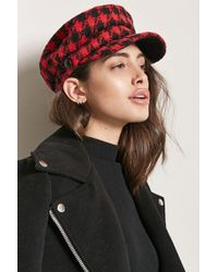 Forever 21 - Houndstooth Cabby Hat - Lyst
