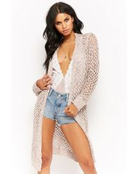 Forever 21 - Women's Marled Knit Longline Cardigan Jumper - Lyst