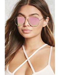 Forever 21 - Mirrored Aviator Sunglasses - Lyst