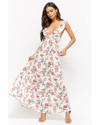Forever 21 - Strappy Floral Print Maxi Dress - Lyst