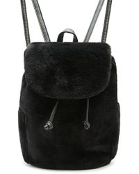 Forever 21 Faux Fur Mini Backpack in Pink - Lyst 4ea473c833d48