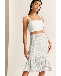 Forever 21 - Stripe Ruffle Skirt - Lyst