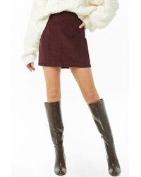 Forever 21 - Corduroy Mini Skirt - Lyst