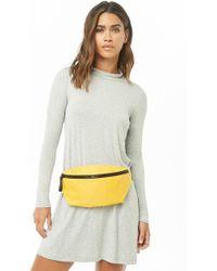 Forever 21 - Women's Slub Knit Cutout Swing Dress - Lyst