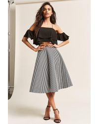 71b701bbe33 Lyst - Forever 21 Plus Size Layered Pleated Skirt in Black