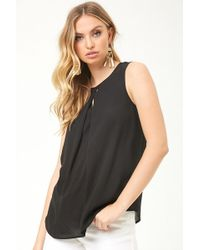Forever 21 - Keyhole Overlay Top - Lyst