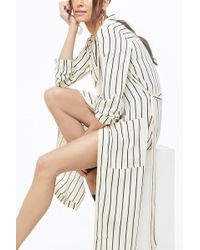 Forever 21 - Women's Striped Print Duster Cardigan Sweater - Lyst