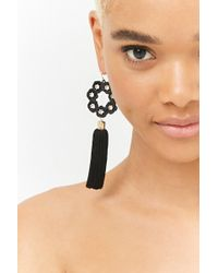 Forever 21 - Floral Tassel Drop Earrings - Lyst