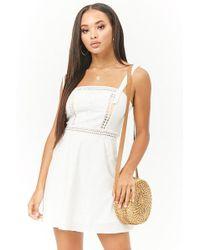 FOREVER21 - Linen-blend Fit & Flare Dress - Lyst