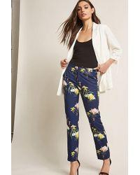 Forever 21 - Satin Floral Pants - Lyst