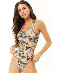 Forever 21 - Camo One-piece Swimsuit - Lyst