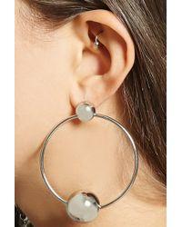 FOREVER21 - Beaded Hoop Earrings - Lyst