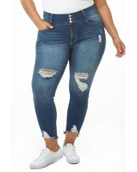 5712857b278 Forever 21 - Women s Plus Size High-rise Skinny Jeans - Lyst