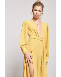 Forever 21 - Semi-sheer Tulip Maxi Dress - Lyst