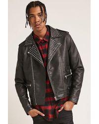 Forever 21 - 's Studded Moto Jacket - Lyst