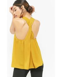 Forever 21 - Mock Neck Trapeze Top - Lyst