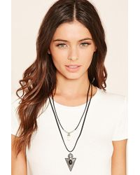 Forever 21 - Arrow Pendant Layered Necklace - Lyst