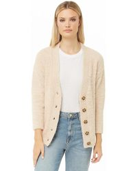 0ac5909c25 Forever 21 Oversized Chunky Knit Cardigan in Natural - Lyst