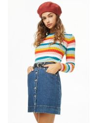 Forever 21 - Ribbed Multicolor Jumper Sweater - Lyst