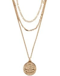 Forever 21 - Coin Pendant Necklace Set - Lyst