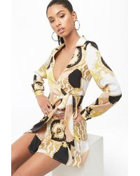 Forever 21 - Collared Baroque Dress - Lyst