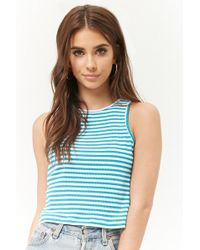 Forever 21 - Ribbed Striped Crop Top - Lyst