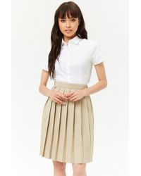 Forever 21 - French Toast Pleated Skirt - Lyst