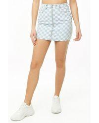 Forever 21 - Checkered Print Mini Skirt - Lyst