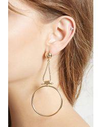 Forever 21 - Drop-hoop Earrings - Lyst