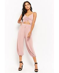 1335dfe6a04e Lyst - Forever 21 Utility Jumpsuit in Green