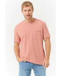 Forever 21 - T-Shirt mit gerolltem Saum - Lyst