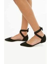 Forever 21 - Faux Suede Pointed Toe Flats - Lyst