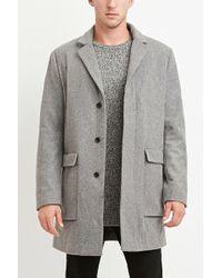 Forever 21 - Wool-blend Longline Coat - Lyst