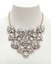 Forever 21 - Floral Faux Gemstone Statement Necklace - Lyst