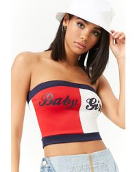 aa3e3e2290d Forever 21 - Baby Girl Colorblock Tube Top - Lyst
