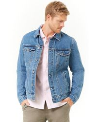 Forever 21 - 's Faded Wash Denim Jacket - Lyst