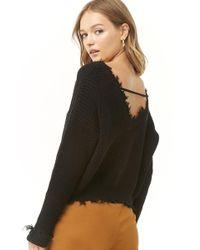 Forever 21 - Women's Sharkbite-trim Sweater - Lyst