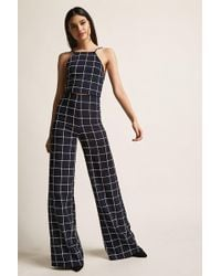 Forever 21 - Grid Print Crop Top & Pants Set - Lyst