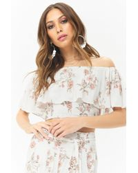 Forever 21 - Women's Anm Off-the-shoulder Floral Top - Lyst