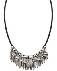 Forever 21 - Etched Feather Choker - Lyst