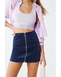 Forever 21 - Faux Suede Mini Skirt - Lyst
