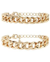 Forever 21 - Curb Chain Bracelet Set - Lyst