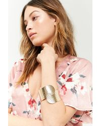 Forever 21 - Hammered Wrap Bracelet Cuff - Lyst