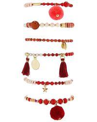 Forever 21 - Beaded Charm Stretch Bracelet Set - Lyst