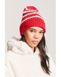 Forever 21 - Purl Knit Stitched Beanie - Lyst