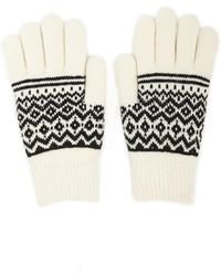 Forever 21 - Geo Print Gloves , White/black - Lyst