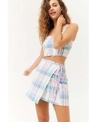 Forever 21 - Plaid Wrap Mini Skirt - Lyst