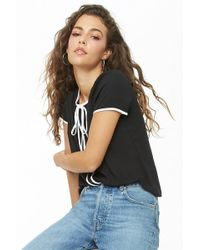 Forever 21 - Chiffon Contrast-trim Top - Lyst