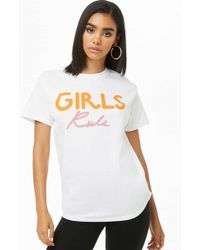 Forever 21 - The Style Club Girls Rule Graphic Tee Shirt - Lyst