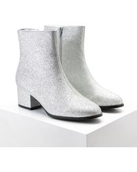 Forever 21 - Glitter Faux Leather Booties - Lyst
